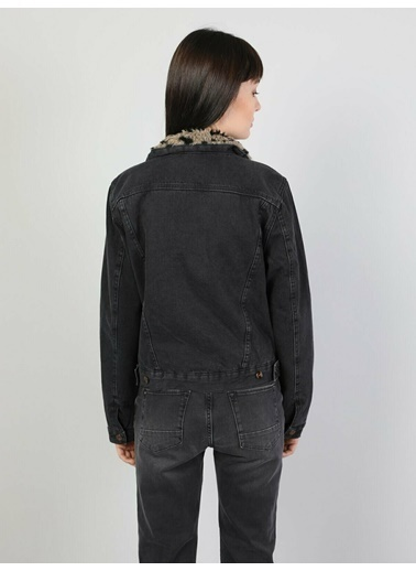 Colin's Colin'S 210 Rona Regular Fit Koyu Kadın Jean Ceket İndigo